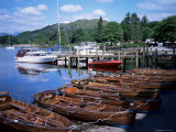 Rowing Boats, Waterhead, Ambleside, Lake Windermere, Lake District, Cumbria Photographic Print by David Hunter