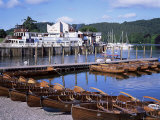 Rowing Boats and Pier, Bowness-On-Windermere, Lake District, Cumbria, England Photographic Print by David Hunter
