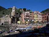Village of Vernazza, Cinque Terre, Unesco World Heritage Site, Liguria, Italy Photographic Print by Bruno Morandi
