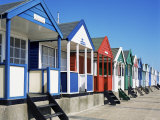 Beach Huts, Southwold, Suffolk, England, United Kingdom Photographic Print by David Hunter