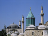 Mevlana Turbe (Mausoleum), and Selimiye Camii (Mosque of Selim), Dating from 16th Century, Anatolia Photographic Print by Michael Short