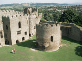 Round Church and Great Hall, Ludlow Castle, Shropshire, England, United Kingdom Photographic Print by David Hunter