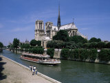 Notre Dame Cathedral from Quai De Montebell0, Paris, France Photographic Print by Michael Short