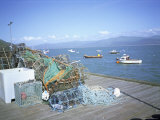 Dovey Estuary from Pier, Fish Nets, Aberdovey, Gwynedd, Wales, United Kingdom Photographic Print by David Hunter