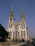 Chartres Cathedral, Unesco World Heritage Site, Chartres, Eure-Et-Loir, Centre, France Photographic Print by Michael Short