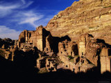 Tomb Facades, Petra, Unesco World Heritage Site, Jordan, Middle East Photographic Print by S Friberg
