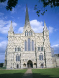 West Front, Salisbury Cathedral, Salisbury, Wiltshire, England, United Kingdom Photographic Print by David Hunter