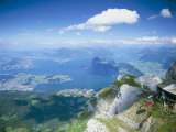 View from Mount Pilatus Over Lake Lucerne, Switzerland Photographic Print by Simon Harris