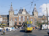Tram and Central Station, Amsterdam, Holland Photographic Print by Michael Short