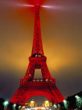 Eiffel Tower Decorated for Chinese New Year, Paris, France Fotografie-Druck von Bruno Morandi