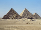 Pyramids at Giza, Unesco World Heritage Site, Near Cairo, Egypt, North Africa, Africa Photographic Print by John Ross