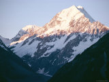 Mount Cook in the Setting Sun, Canterbury, South Island, New Zealand Photographic Print by Ian Griffiths