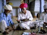 Opium Ceremony, Village Near Jodhpur, Rajasthan State, India Photographic Print by Bruno Morandi