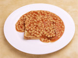 Plate of Baked Beans on Toast Photographic Print by Mark Mawson