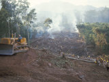 Clearing Forest for Building of the Forest Edge Highway in High Jungle Region of Tarapoto, Peru Photographic Print by Derrick Furlong