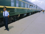 Oulaan Bator Station, Trans-Mongolian Train, Mongolia Photographic Print by Bruno Morandi