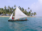 Traditional Boat of the Cuna Indians, Kuanidup Island, Rio Sidra, San Blas Islands, Panama Photographic Print by Bruno Morandi