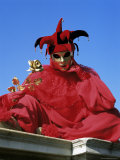 Carnival Costume, Venice, Veneto, Italy Photographic Print by Simon Harris