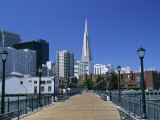 The Embarcadero Center and the Transamerica Pyramid, San Francisco, California, North America Photographic Print by Fraser Hall