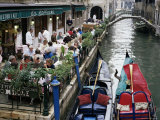 Canalside Restaurant, Venice, Veneto, Italy Photographic Print by Michael Short