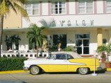 The Avalon Hotel, an Art Deco Hotel on Ocean Drive, South Beach, Miami Beach, Florida, USA Photographic Print by Fraser Hall