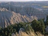 View Over Eroded Landscape, Badlands National Park, South Dakota, USA Photographic Print by Derrick Furlong
