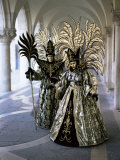 Carnival Costumes, Venice, Veneto, Italy Photographic Print by Simon Harris