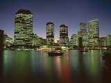 City Skyline and Brisbane River at Night, Brisbane, Queensland, Australia Photographic Print by Mark Mawson