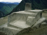 The Intihuatana, Sun Temple, Machu Picchu, Unesco World Heritage Site, Peru Photographic Print by Derrick Furlong