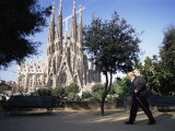 Sagrada Familia Cathedral, Barcelona, Catalonia, Spain Photographic Print by Graham Lawrence