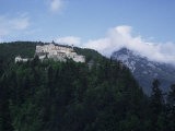Castle in Pine Covered Mountains Near Salzburg, Austria Photographic Print by Ian Griffiths