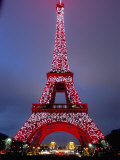 Eiffel Tower Decorated for Chinese New Year, Paris, France Photographie par Bruno Morandi
