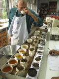 Ravi Kidwai, Tea Specialist, Tasting and Assessing Tea, Kolkata Lmina fotogrfica por Eitan Simanor