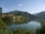 View Over Lake and Mountains, Near Konjic, Bosnia, Bosnia-Herzegovina Photographic Print by Graham Lawrence