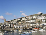 The Golden Hind and Other Boats in the Harbour, Brixham, Devon, England, United Kingdom Photographic Print by Raj Kamal