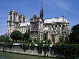 Notre Dame Cathedral from the Left Bank, Paris, France Photographic Print by Michael Short