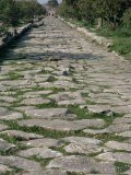 Roman Street, Paestum, Campania, Italy Photographic Print by John Ross