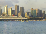 Queen Mary 2 on Maiden Voyage Arriving in Sydney Harbour, New South Wales, Australia Photographic Print by Mark Mawson