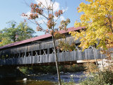Albany Covered Bridge Over Swift River, Kangamagus Highway, New Hampshire, USA Photographic Print by Fraser Hall