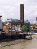 The New Globe Theatre with the Tate Gallery of Modern Art in Background, Bankside, London, UK Photographic Print by Fraser Hall