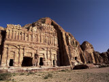 Palace Tomb in the Chain of Royal Tombs, Petra, Unesco World Heritage Site, Jordan, Middle East Photographic Print by S Friberg