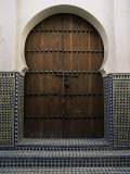 Door in the Quartier Des Andalous, Medina, Fes El Bali, Fez, Morocco, North Africa, Africa Photographic Print by Bruno Morandi