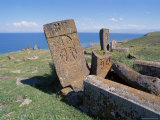 Christian Tombs, Salohiyakk, Lake Sevan, Armenia, Central Asia Photographic Print by Bruno Morandi