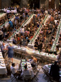 Large Banquet in the Contrada Quarter, Palio, Siena, Tuscany, Italy Photographic Print by Bruno Morandi