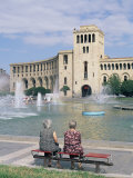 Fountains in City, Erevan (Yerevan), Armenia, Central Asia Photographic Print by Bruno Morandi