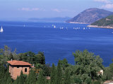 Coast Near Portoferraio, Island of Elba, Province of Livorno, Tuscany, Italy, Mediterranean Photographic Print by Bruno Morandi