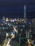 City View from Observatory Tower, Taipei City, Taiwan Photographic Print by Christian Kober