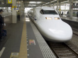 Shinkansen Bullet Train, Tokyo, Japan Photographic Print by Christian Kober