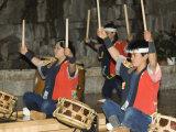 Traditional Japanese Taiko Drumming Performance, Matsuyama, Ehime Prefecture, Shikoku Island, Japan Photographic Print by Christian Kober