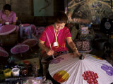 Making Umbrellas, Bo Sang, Pce De Chiang Rai, Thailand, Southeast Asia Photographic Print by Bruno Morandi